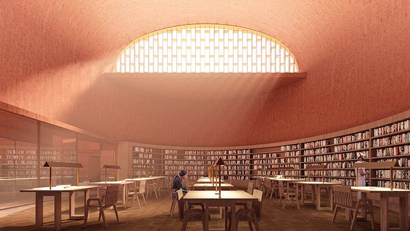 Thabo Mbeki Presidential Library interior reading room