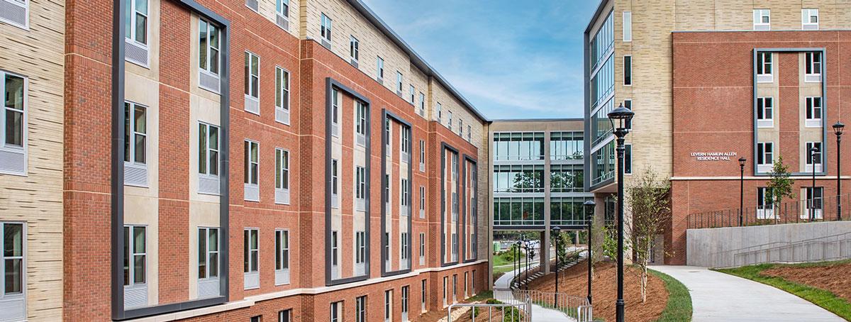 Lavern Hamlin Allen Residence Hall at Western Carolina University in Cullowhee, North Carolina; Architect: Clark Nexsen