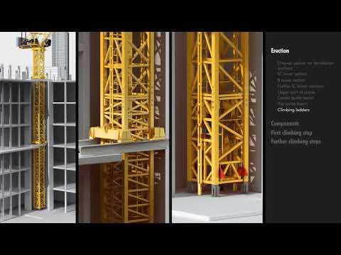 Liebherr Tower Cranes - Climbing inside buildings