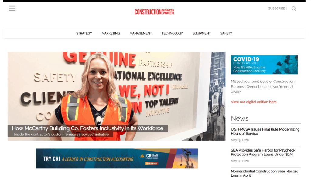 top construction management blog - construction business owner