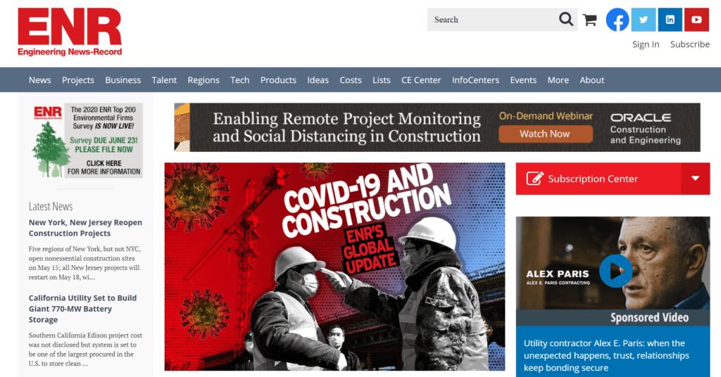 top construction news blog - ENR