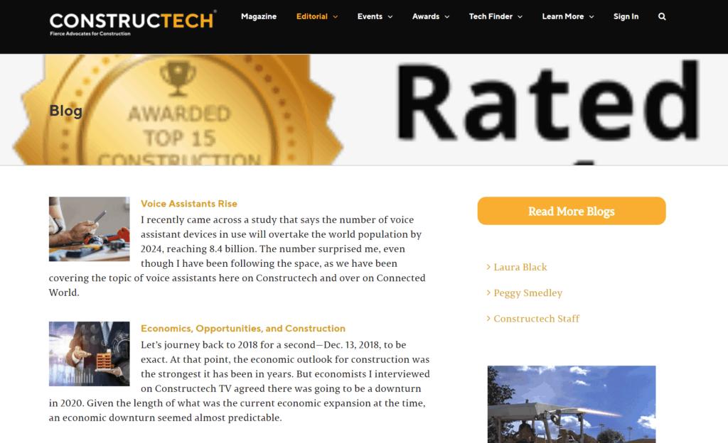 top construction technology blog - constructech