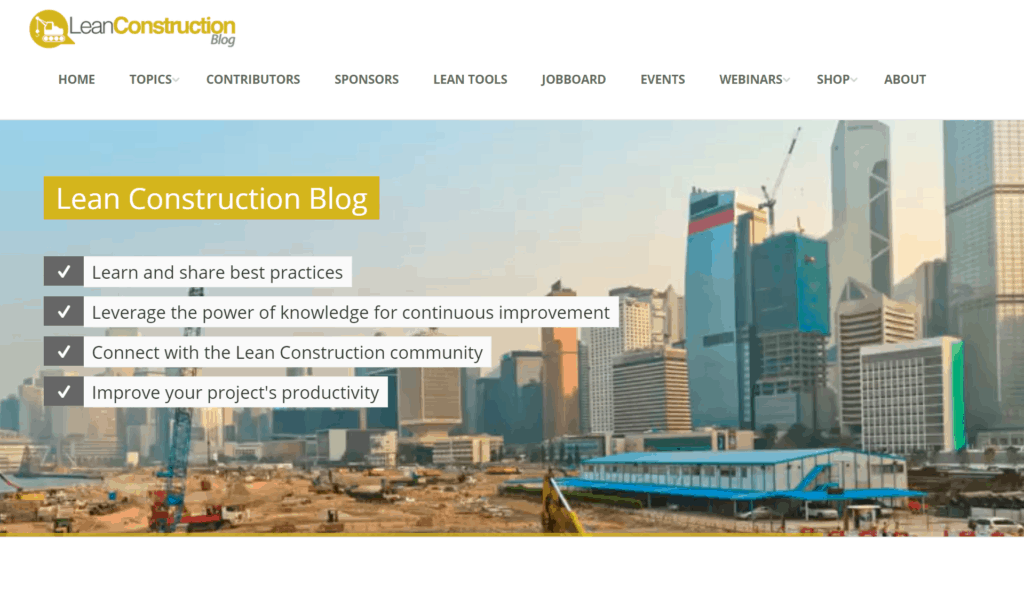 top lean construction blog - lean construction