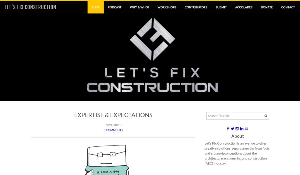 top construction knowledge blog - lets fix construction