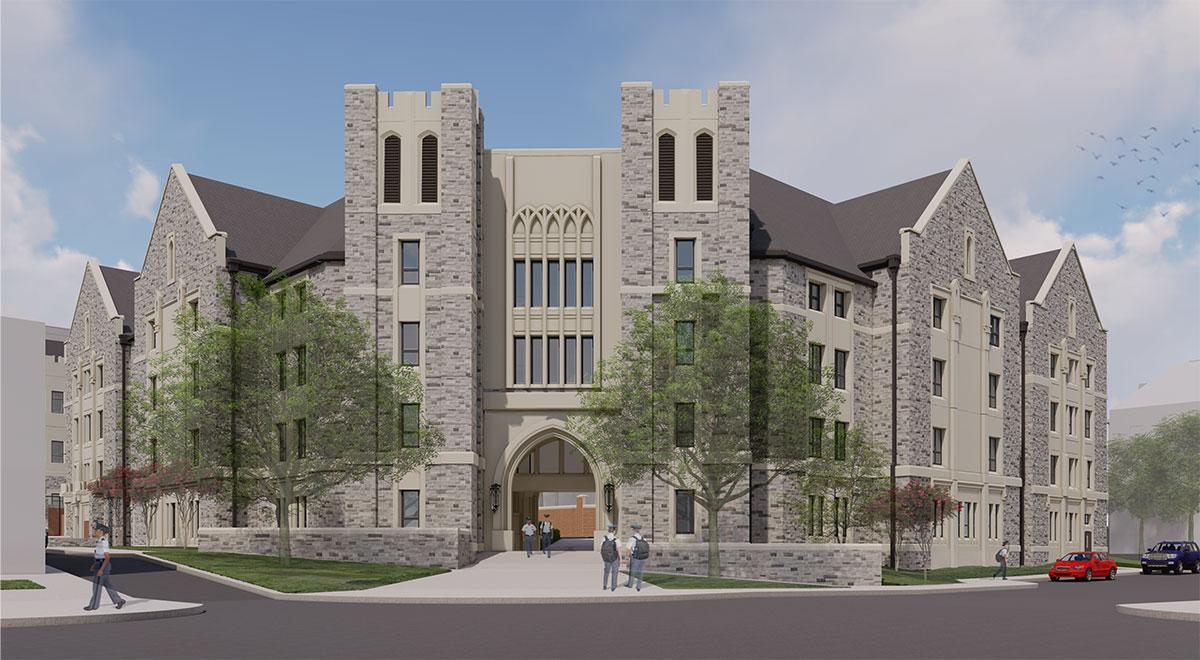New Upper Quad Residence Hall at Virginia Tech in Blacksburg, Virgina; Architect: Clark Nexsen